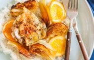 Roasted Chicken Thighs with Fennel and Orange