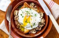 Mushroom Toast with Fried Egg