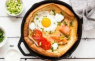 Savory Dutch Baby Pancake with Salmon and Fried Egg