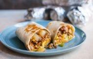 Freezer Breakfast Burritos with Sausage, Eggs and Salsa Verde