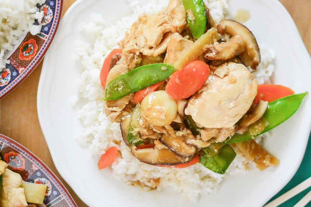 Moo Goo Gai Pan (Chinese Chicken and Mushroom Stir Fry)