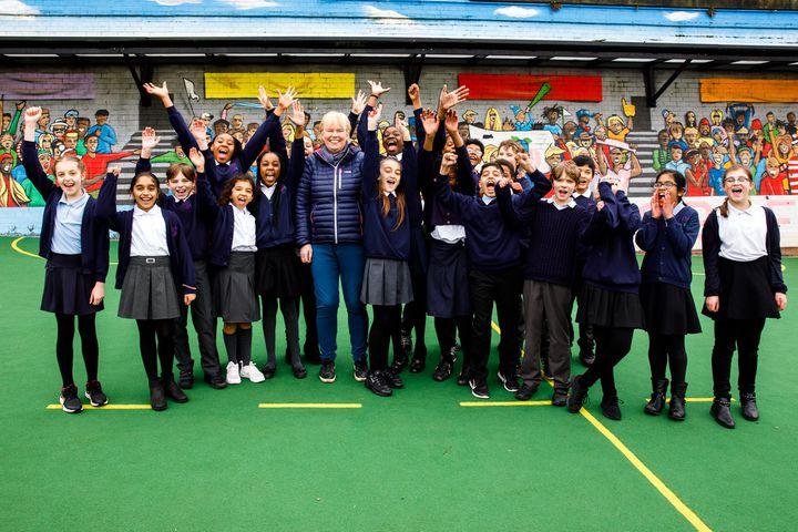 UK school initiative encouraging kids to run around improving their health