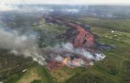 Stunning helicopter footage shows Hawaii volcano's fast-moving lava flow