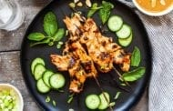Grilled Chicken Satay with Peanut Sauce