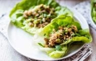 Pressure Cooker Chicken Lettuce Wraps