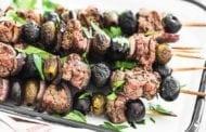 Rosemary Olive Steak Skewers