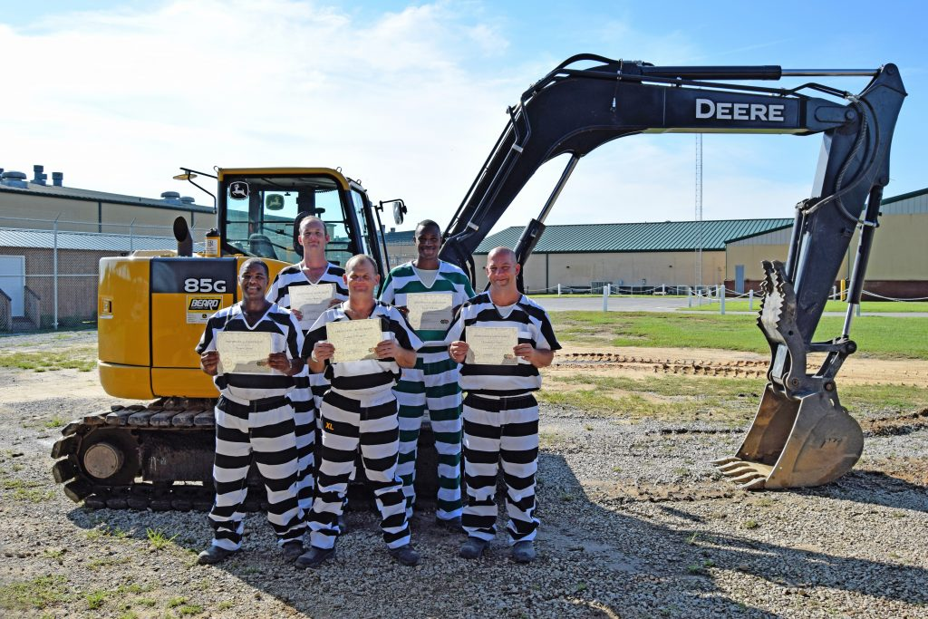 FIRST CLASS OF INMATES GRADUATE FROM HEAVY EQUIPMENT PROGRAM AT WALTON COUNTY JAIL