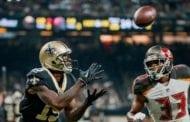 Knee to sideline Saints WR Ginn vs. Redskins