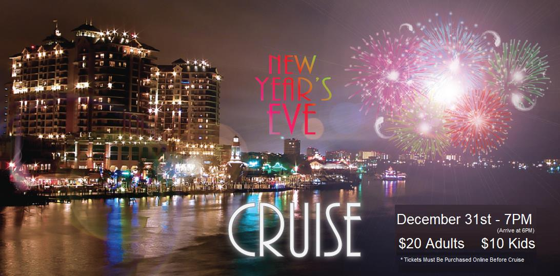 Best place to see the Fireworks at the Destin Harbor for New Years