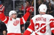 Mantha scores tying, winning goal as Red Wings top Golden Knights 3-2 in OT