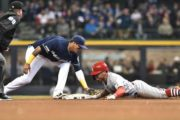 Yelich kept in park, Brewers lose 6-3 to Cardinals