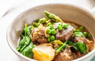 Pressure Cooker Lamb Stew with Spring Vegetables