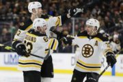 The Latest: Bruins' Cassidy says Marchand will play Game 1