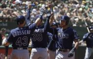 Rays come out swinging to beat A's 8-2, end long stretch