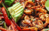 Skillet Shrimp Fajitas