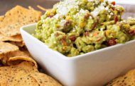 Guacamole with Charred Sweet Corn, Bacon and Tomato