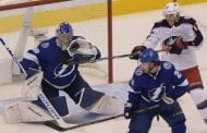 Lightning outlast Blue Jackets in 5 overtimes, take Game 1 of series