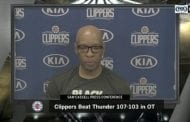 Sam Cassell talks after Clippers win over Thunder