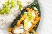 Chicken Fajita Stuffed Poblano Peppers
