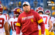 """""""USC needs to go big and call Doug Pederson"""" — Colin Cowherd reacts to Trojans firing Clay Helton I THE HERD"""